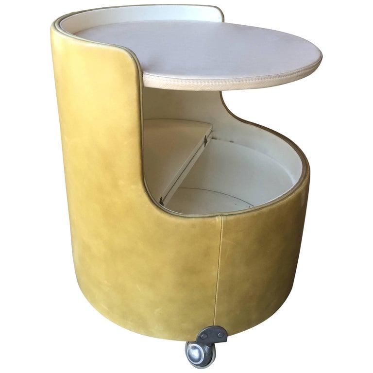 Italian, 1960s Frau Leather Nightstand For Sale