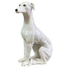 Italian 1960's Hand Made Ceramic Greyhound