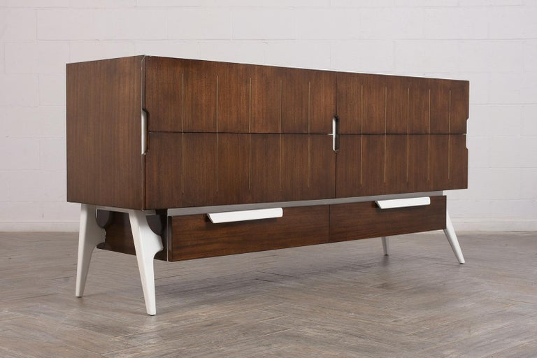 Hand-Crafted Mid-Century Modern Italian Credenza For Sale