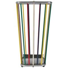Italian 1960s Multi-Colored Umbrella Stand
