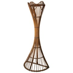 Italian 1960s Wicker Coat Stand