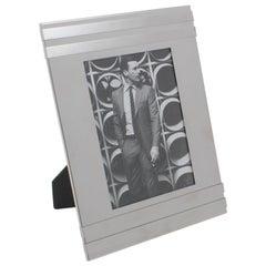 Italian 1970s Aluminum Picture Frame