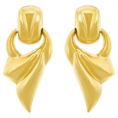Italian 1970s Bold Gold Earrings