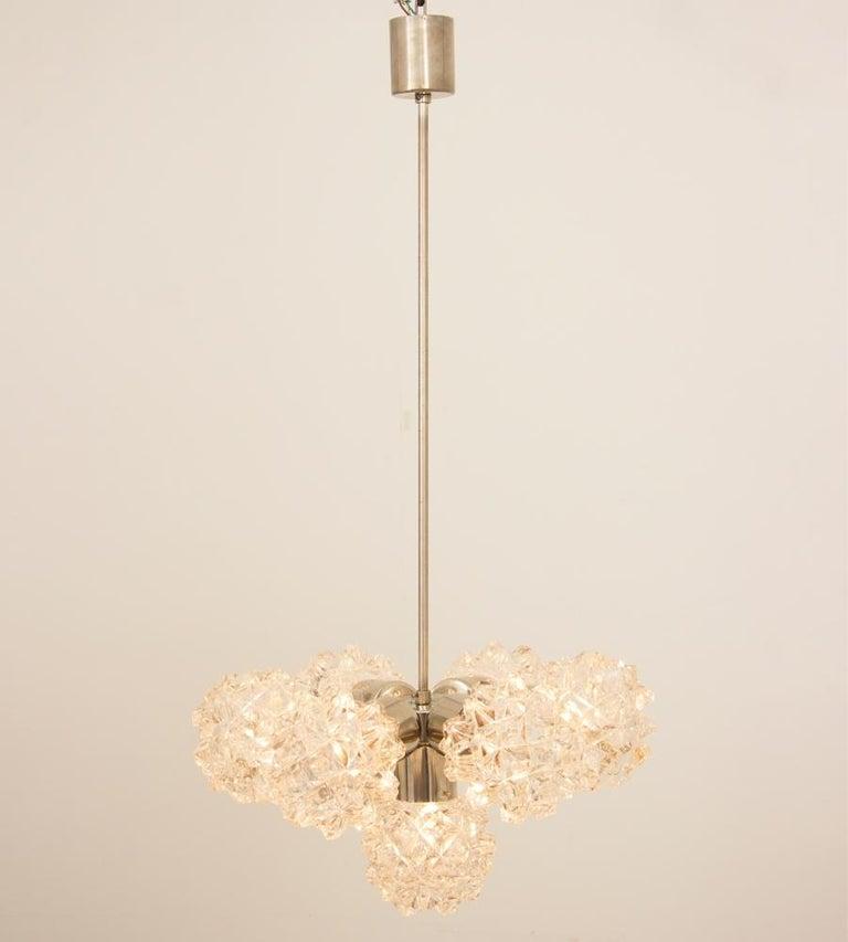 Mid-Century Modern Italian 1970s Brushed Steel Sputnik Light For Sale