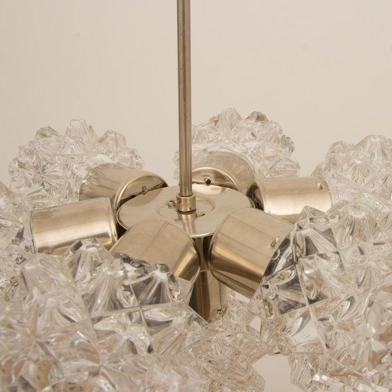 Italian 1970s Brushed Steel Sputnik Light For Sale 1
