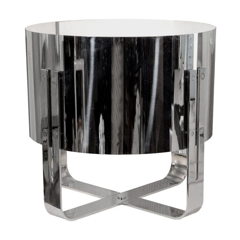 Italian 1970s Chrome Table Lamp by Lumenform