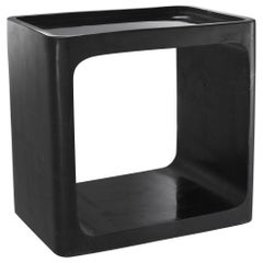 Italian 1970s Design Style Black Marble Side Table