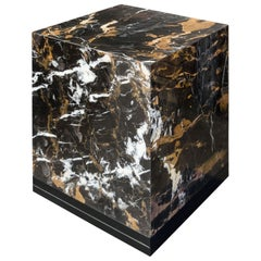 Italian 1970s Design Style Marble Cubic Side Table