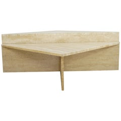 Italian 1970s Design Two-Tier Travertine Large and Modular Coffee Tables