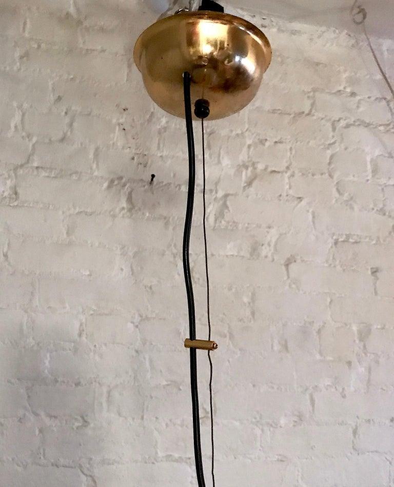 Italian 1970s Large Poligoso Globe Pendant Light For Sale 5