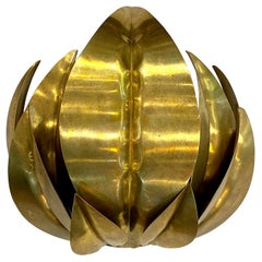 Italian 1970s Leaf Cluster Sconce in the Manner of Tommaso Barbi