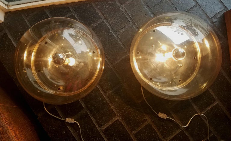 Italian 1970s Pair of Table Lamps after Siderea by Tato For Sale 1