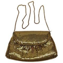 Italian 1980s Marlon Gold Mesh Disco Bag