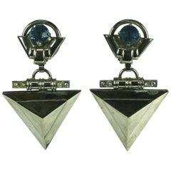 Italian 1980's Modernist Earrings