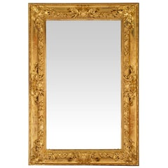 Italian 19th Century Baroque Giltwood Mirror
