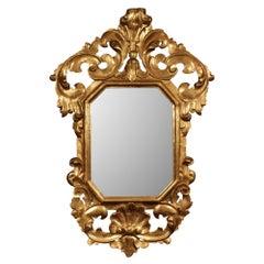 Italian 19th Century Baroque St. Giltwood Mirror