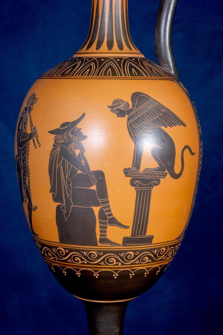 Italian 19th Century Black-Ground Terracotta Vase For Sale 6