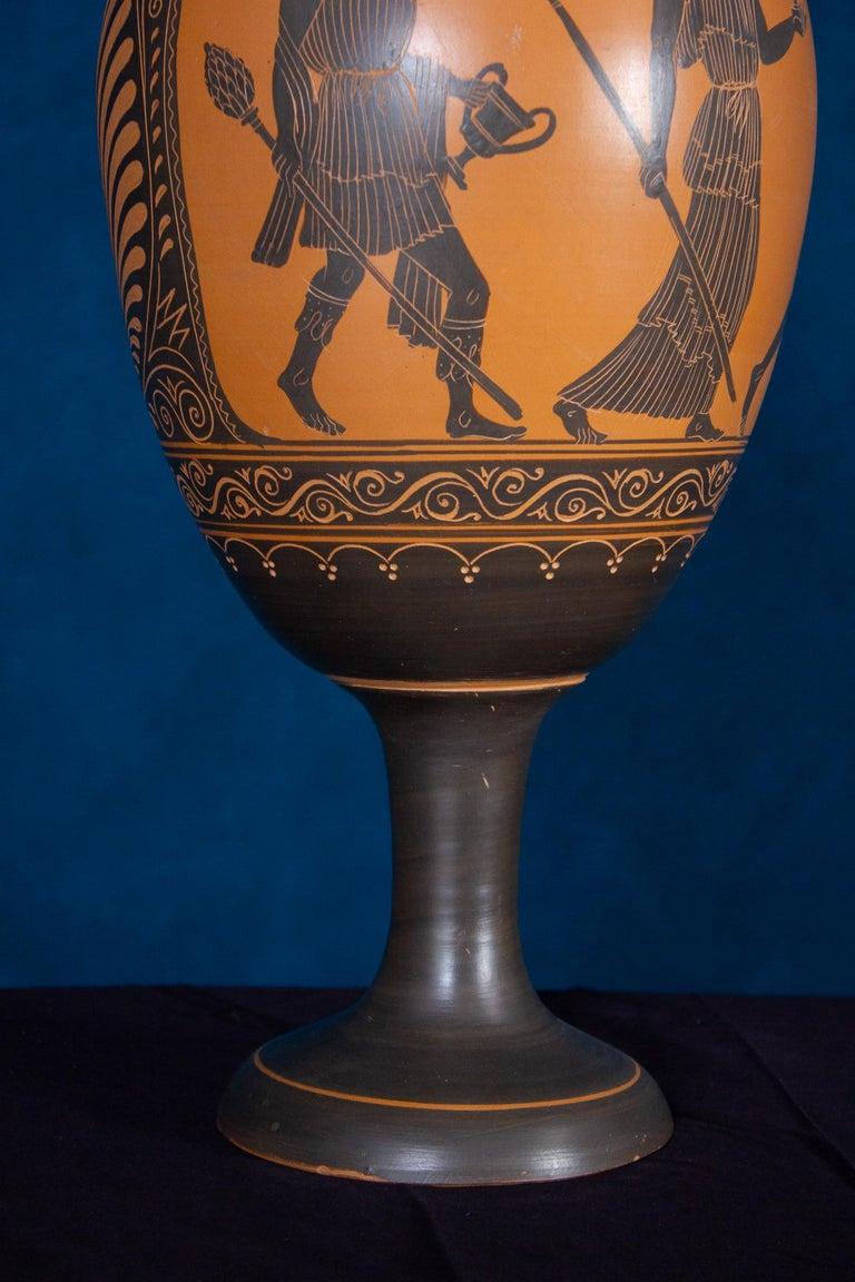 Italian 19th Century Black-Ground Terracotta Vase For Sale 1