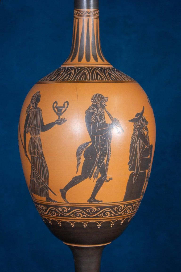 Italian 19th Century Black-Ground Terracotta Vase For Sale 3