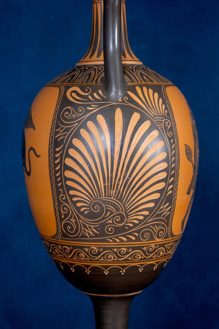 Italian 19th Century Black-Ground Terracotta Vase For Sale 4