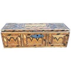 Italian 19th Century Braided Straw Box from a Monastery in Umbria Region
