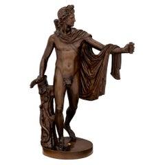 Italian 19th Century Bronze Statue of Apollo, Signed F. Barbedienne Fondeur