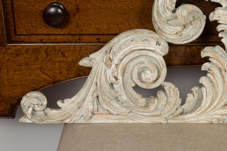 Italian 19th Century Carved and Painted Architectural Fragment with Volutes For Sale 1