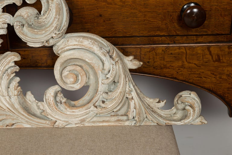 Italian 19th Century Carved and Painted Architectural Fragment with Volutes For Sale 2