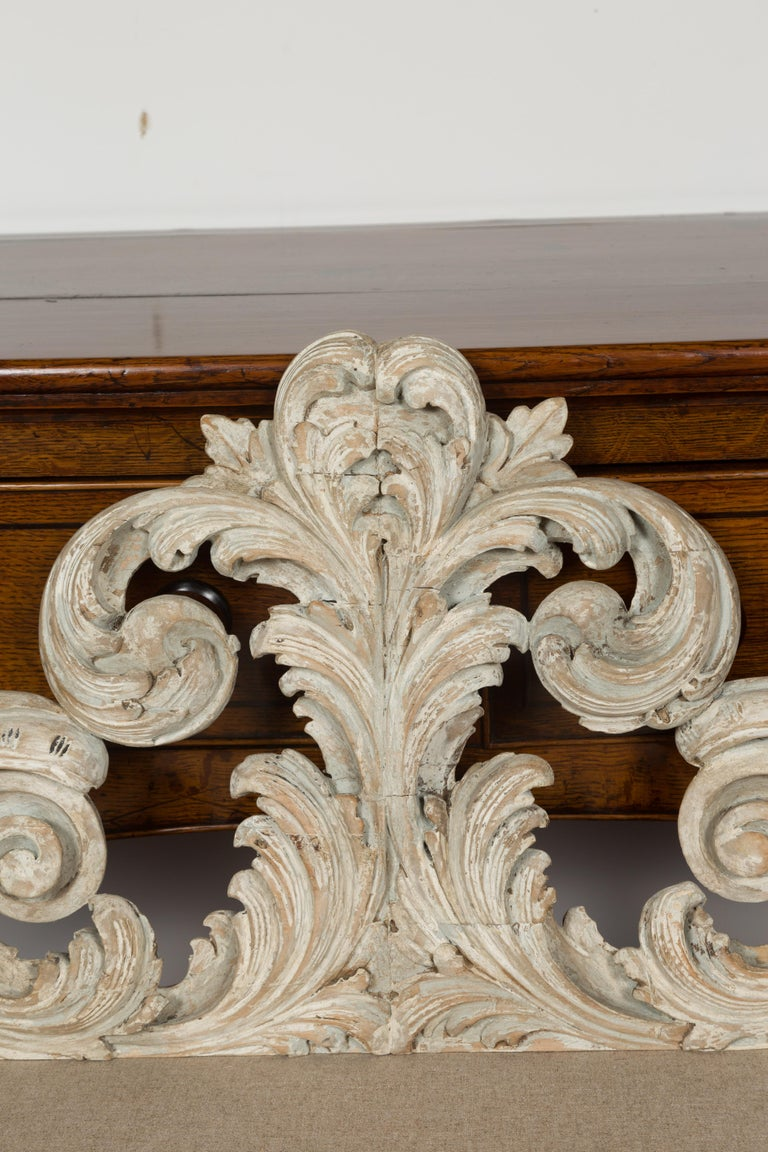 Italian 19th Century Carved and Painted Architectural Fragment with Volutes For Sale 3