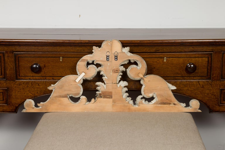 Italian 19th Century Carved and Painted Architectural Fragment with Volutes For Sale 4