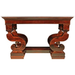 Italian 19th Century Charles X Period Rosewood Console