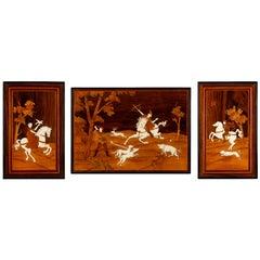 Italian 19th Century Decorative Marquetry Wall Panels