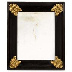 Italian 19th Century Florentine Ebony and Giltwood Mirror