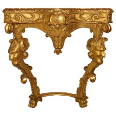 Italian 19th Century Giltwood Console