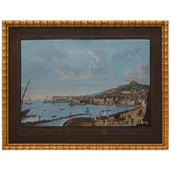 Italian 19th Century Gouache of Naples, Italy