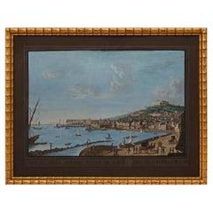 Italian 19th Century Gouache of Naples, Italy