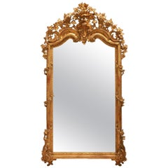 Italian 19th Century Grand Scale Giltwood Mirror