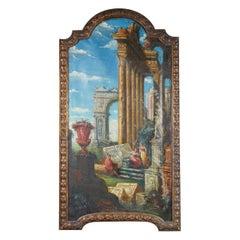 Italian 19th Century Grand Tour Capriccio in the Manner of Panini