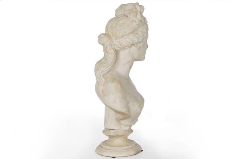 Italian 19th Century Grand Tour Marble Bust of Capitoline Venus 13