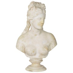 Italian 19th Century Grand Tour Marble Bust of Capitoline Venus