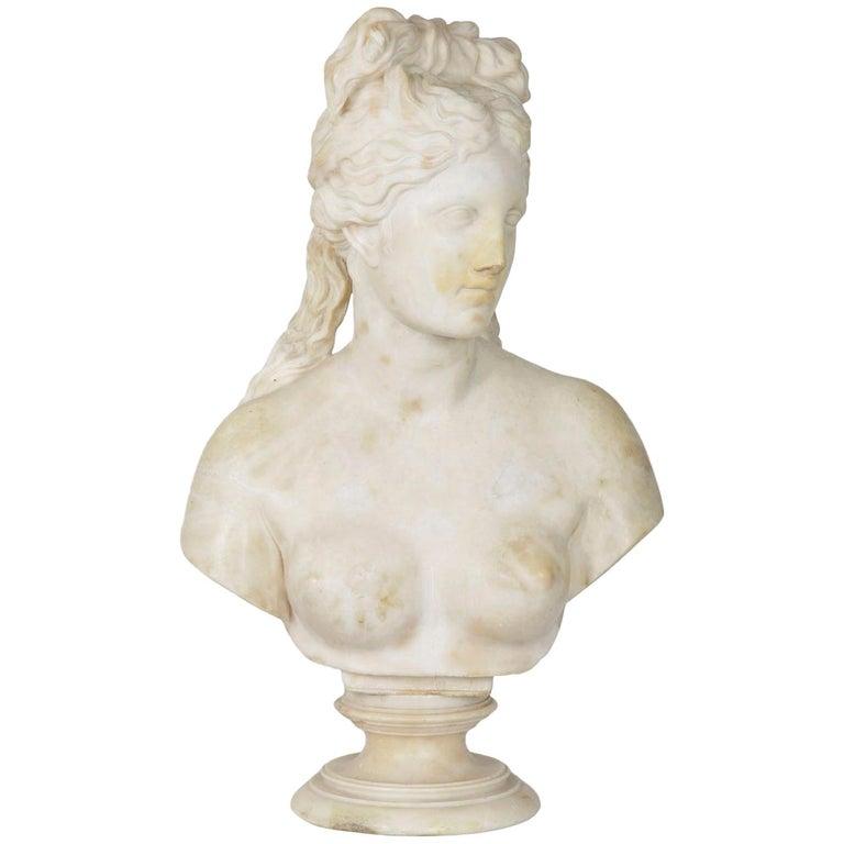 Italian 19th Century Grand Tour Marble Bust of Capitoline Venus