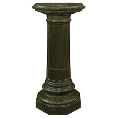 Italian 19th Century Green Marble Three Piece Pedestal