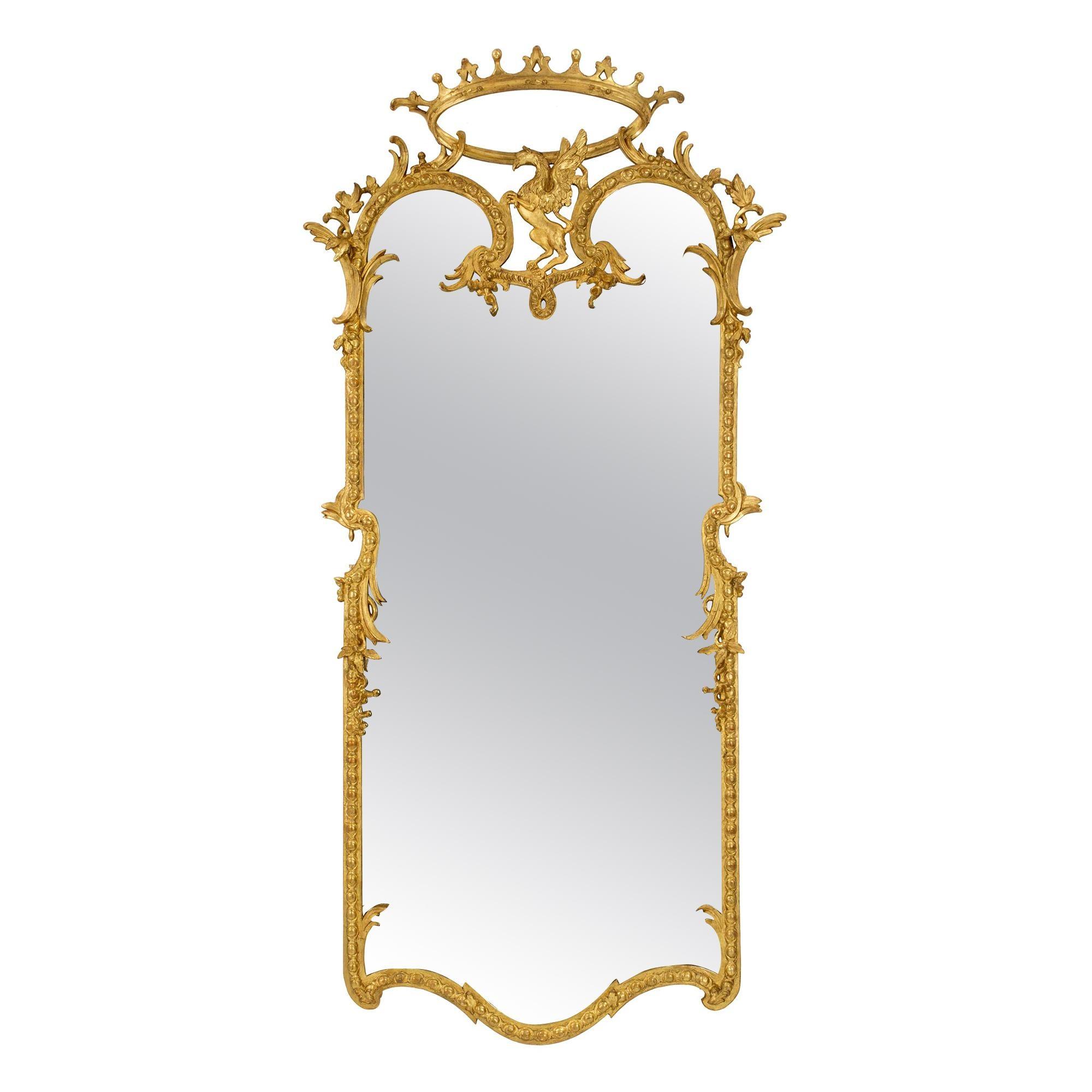 Italian 19th Century Louis XIV St. Giltwood Mirror