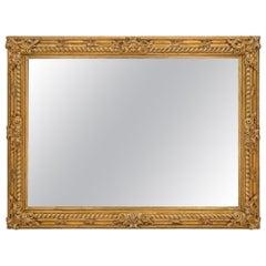 Italian 19th Century Louis XIV Style Rectangular Giltwood Mirror