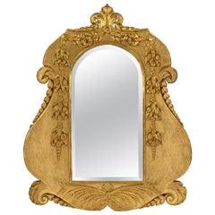Italian 19th Century Louis XV / Louis XVI Style Giltwood Mirror