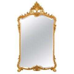 Italian 19th Century Louis XV St. Giltwood Mirror