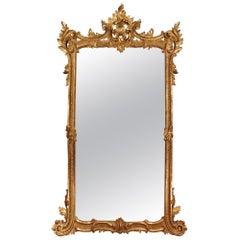 Italian 19th Century Louis XV Style Giltwood Mirror