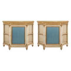 Italian 19th Century Louis XVI St. Patinated and Giltwood Cabinets
