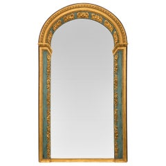 Italian 19th Century Louis XVI St. Patinated and Giltwood Mirror