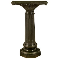 Italian 19th Century Louis XVI St. Vert De Patricia Marble Pedestal Column